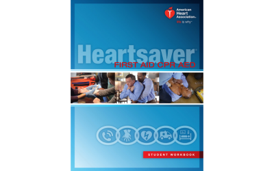 Heartsaver CPR AED First Aid cover 400x250 - Courses